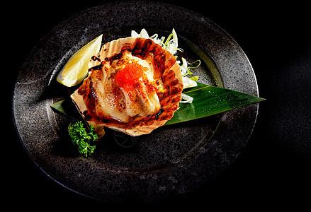 日本料理鲍鱼图片