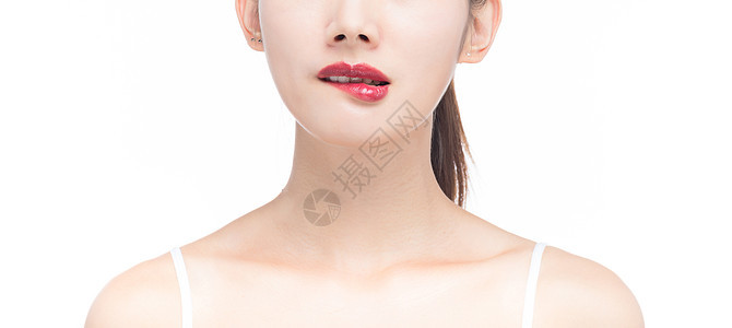红色嘴唇图片