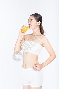 健康饮食喝果汁图片