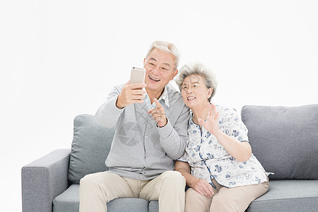 老年夫妇视频通话图片