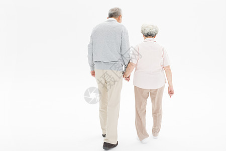 老年夫妇背影图片