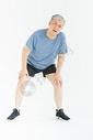 老年男人腰疼形象图片
