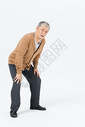 老年男性腰疼形象图片