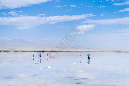 青海茶卡盐湖风光图片