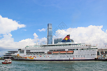 香港维多利亚港游轮图片