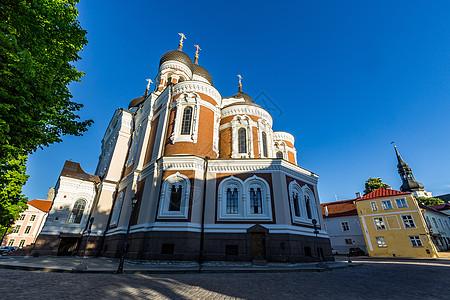 爱沙尼亚塔林老城著名景点圣尼古拉教堂图片