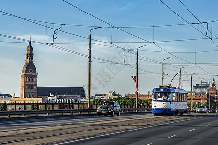 拉脱维亚首都里加城市风光图片