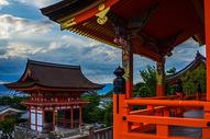 日本京都清水寺夕阳图片