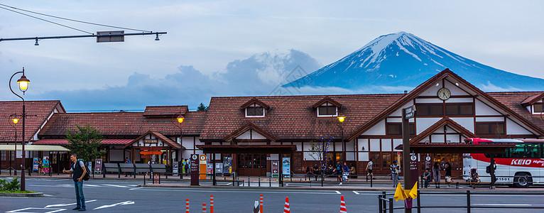 日本河口湖站图片