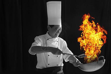 厨师掌勺图片