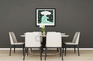 现代饭厅图片