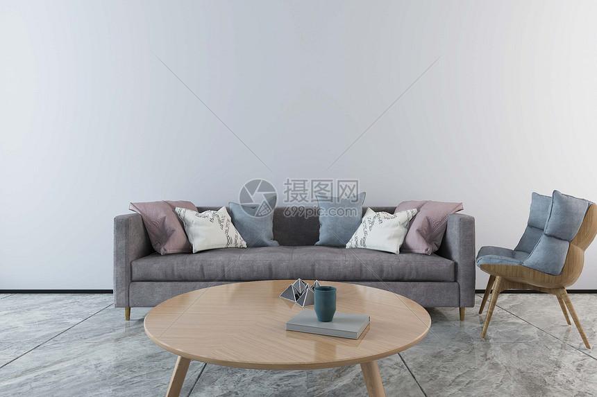沙发圆桌组合图片