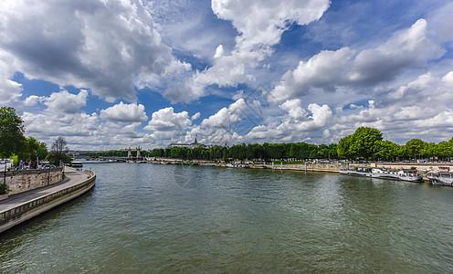 巴黎塞纳河水上餐厅_塞纳河高清图片下载-正版图片500130690-摄图网