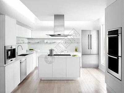 现代浅色厨房效果图图片
