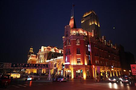 天津街头夜景图片