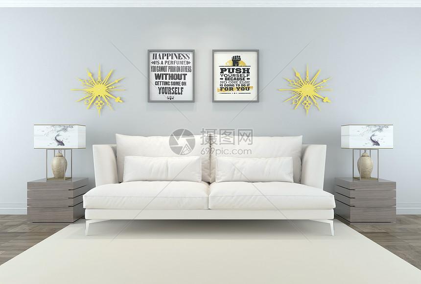 沙发挂画组合图片