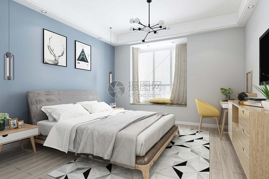 明亮卧室图片