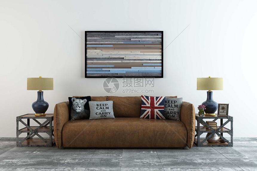 北欧风沙发图片