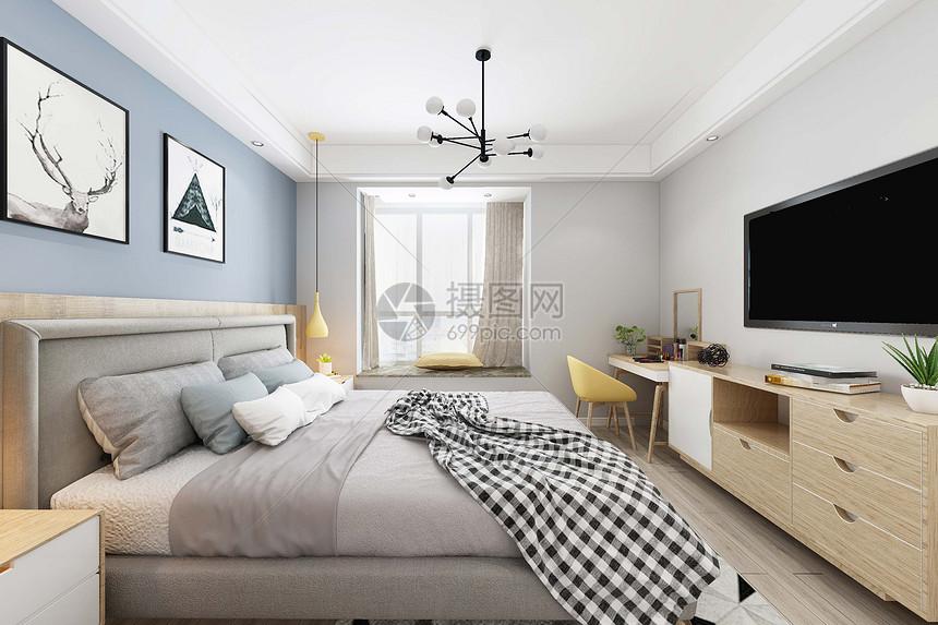 明亮的卧室图片
