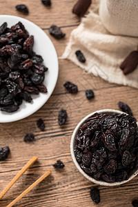 黑加仑葡萄干零食美食坚果类图片