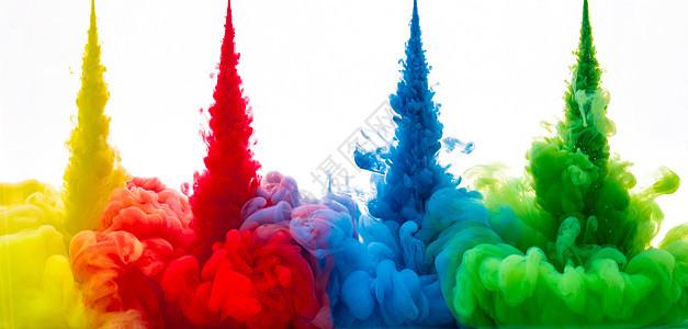 色彩液体流动素材图片