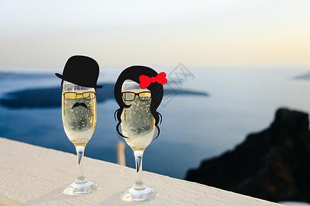 创意情人节酒杯图片