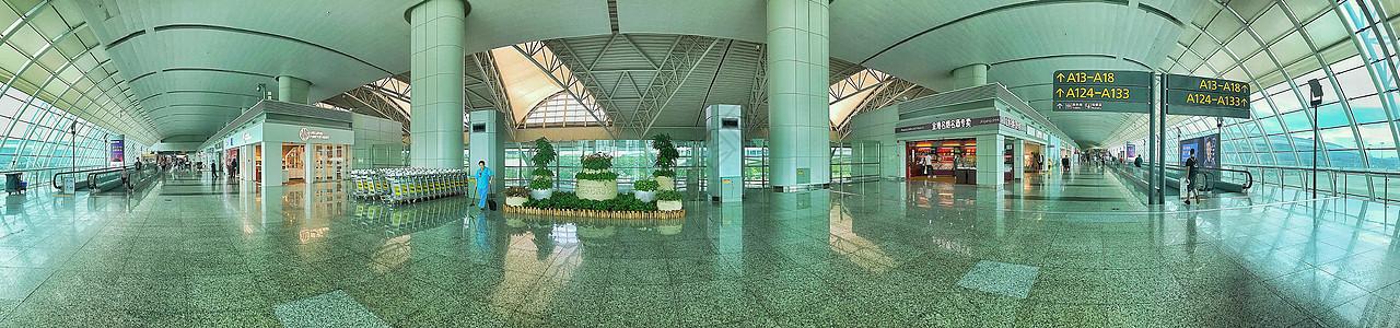 广州白云机场全景图图片