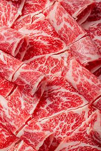 澳洲谷饲雪花牛肉纹理图片