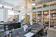 现代书桌书柜效果图图片