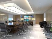 现代办公区效果图图片