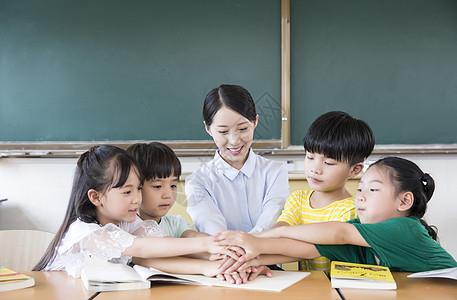 老师学生团结图片