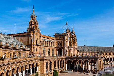 西班牙塞维利亚西班牙广场图片