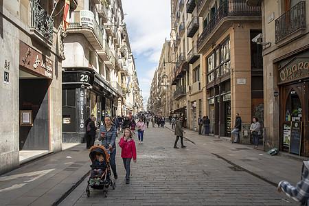 巴塞罗那街景图片