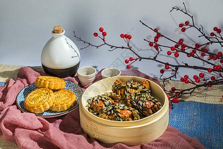 中秋节大闸蟹图片