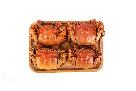 大闸蟹白底素材图片