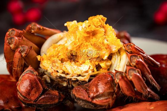 大闸蟹蟹黄图片