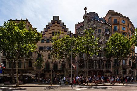 西班牙巴塞罗那不和谐街区图片