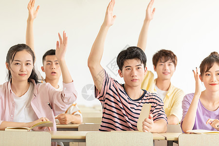 课堂举手图片