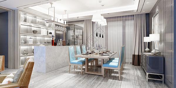 北欧开敞餐厅效果图图片