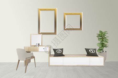 客厅梳妆台效果图图片