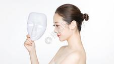 戴面具的美女图片