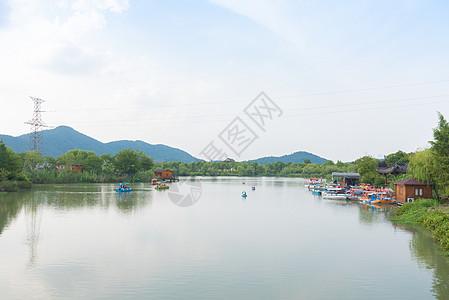 杭州湘湖游船图片