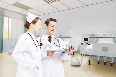 病房的医护人员图片
