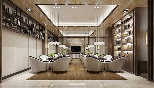 现代餐厅效果图图片