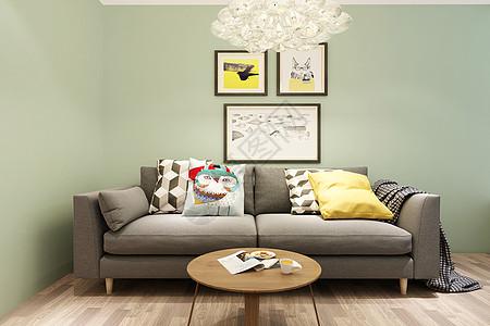 北欧客厅沙发图片