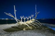 鲸鱼骨雕塑图片