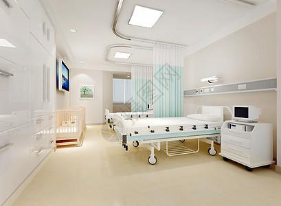 医院病房背景图片