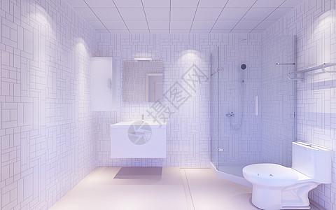 单色卫生间背景图片