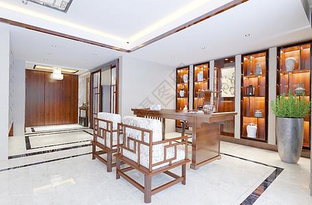 中式书房背景图片
