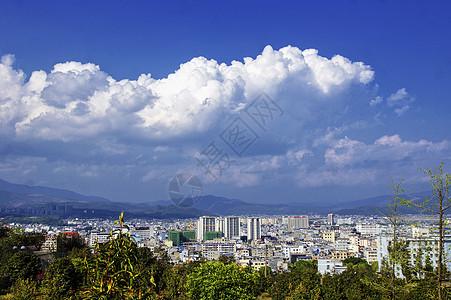 云南腾冲市全景图片